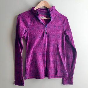 Eddie Bauer Magenta 1/2 zip jacket